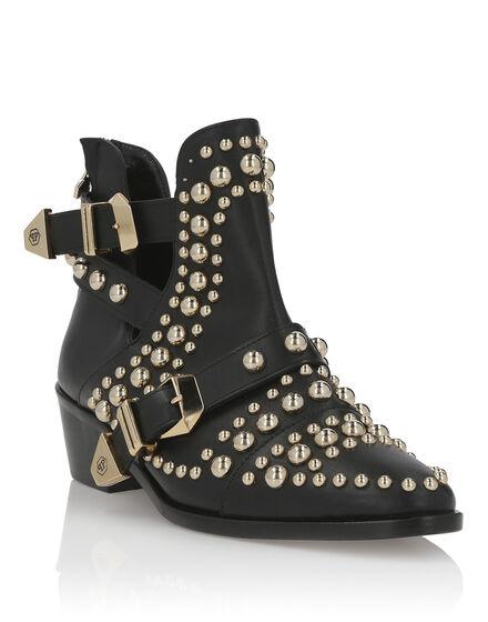 Boots Low Flat Texas studs