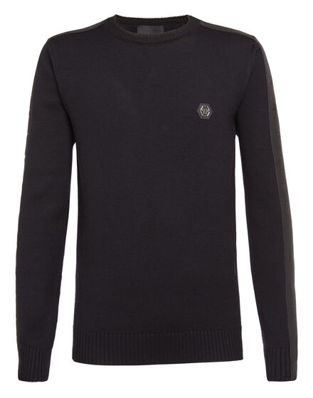 Pullover Round Neck LS Black band