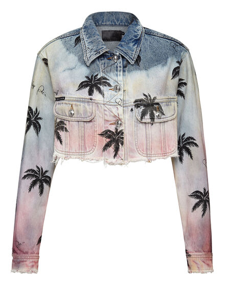 Denim Jacket Pink paradise
