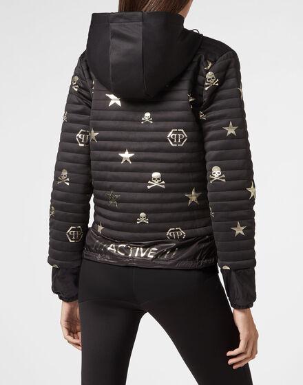 Hoodie Sweatjacket  XYZ Skull and Plein