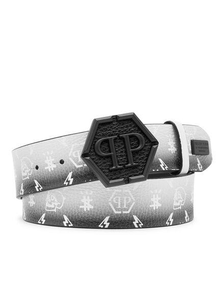 Leather Belt Degradè print Monogram
