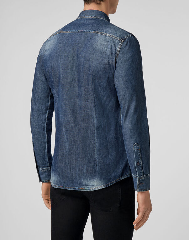 Denim Shirt Ls Hexagon