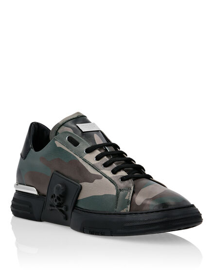 PHANTOM KICK$ Lo-Top Leather Camouflage