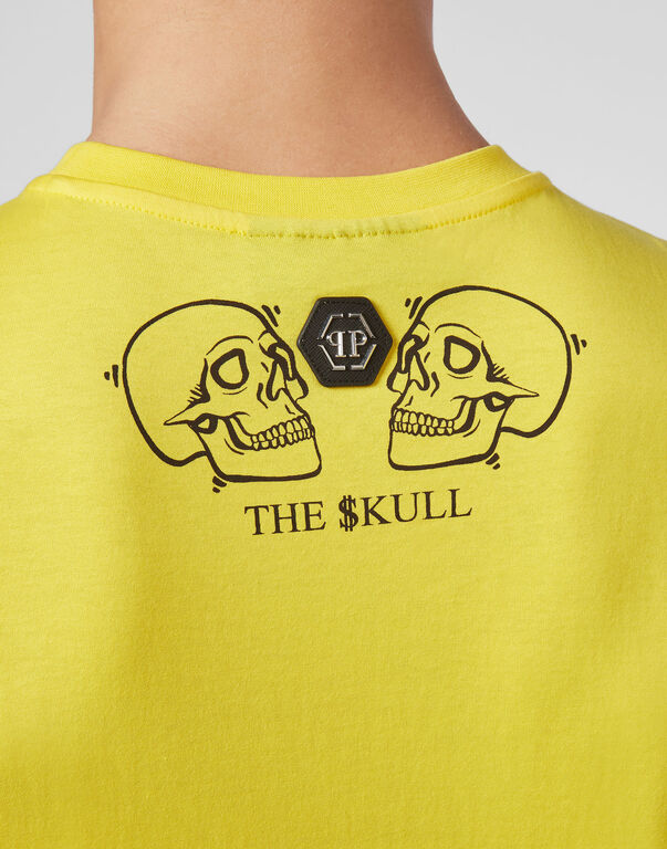 T-shirt Round Neck SS Crystal outline Skull