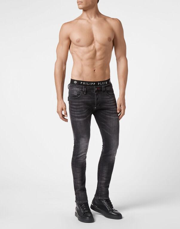 Denim Skinny Trousers fit Iconic Plein