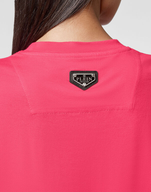 T-shirt Round Neck SS stones Flame