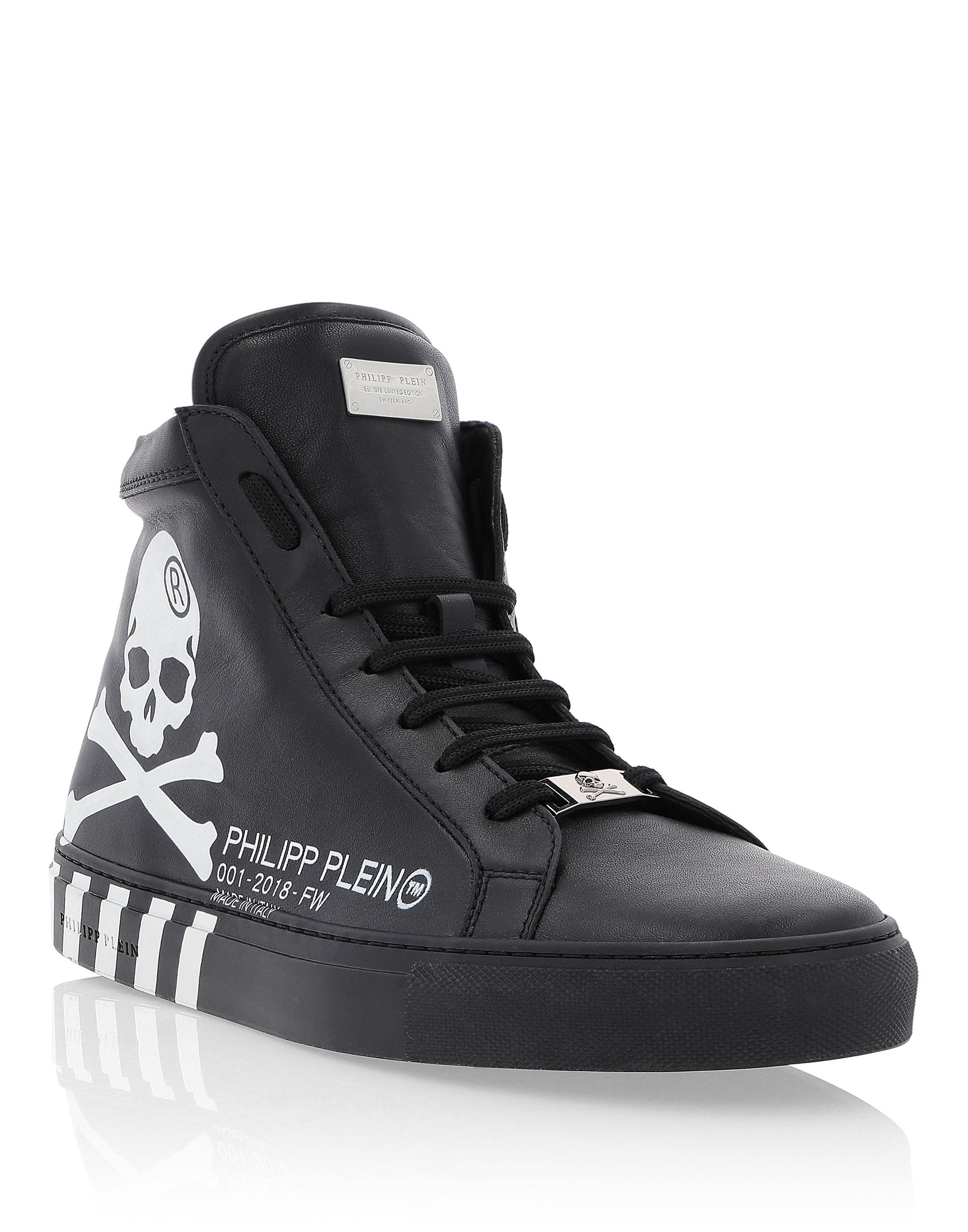 Hi-Top Sneakers Skull   Philipp Plein 33e6f46872e2