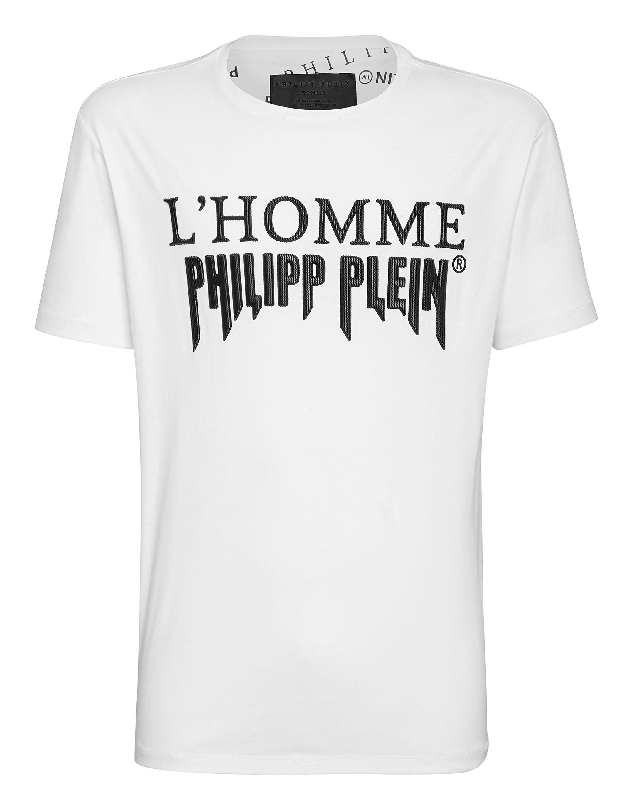 4b2a9b2bdc1e T-shirt Platinum Cut Round Neck Rock PP | Philipp Plein