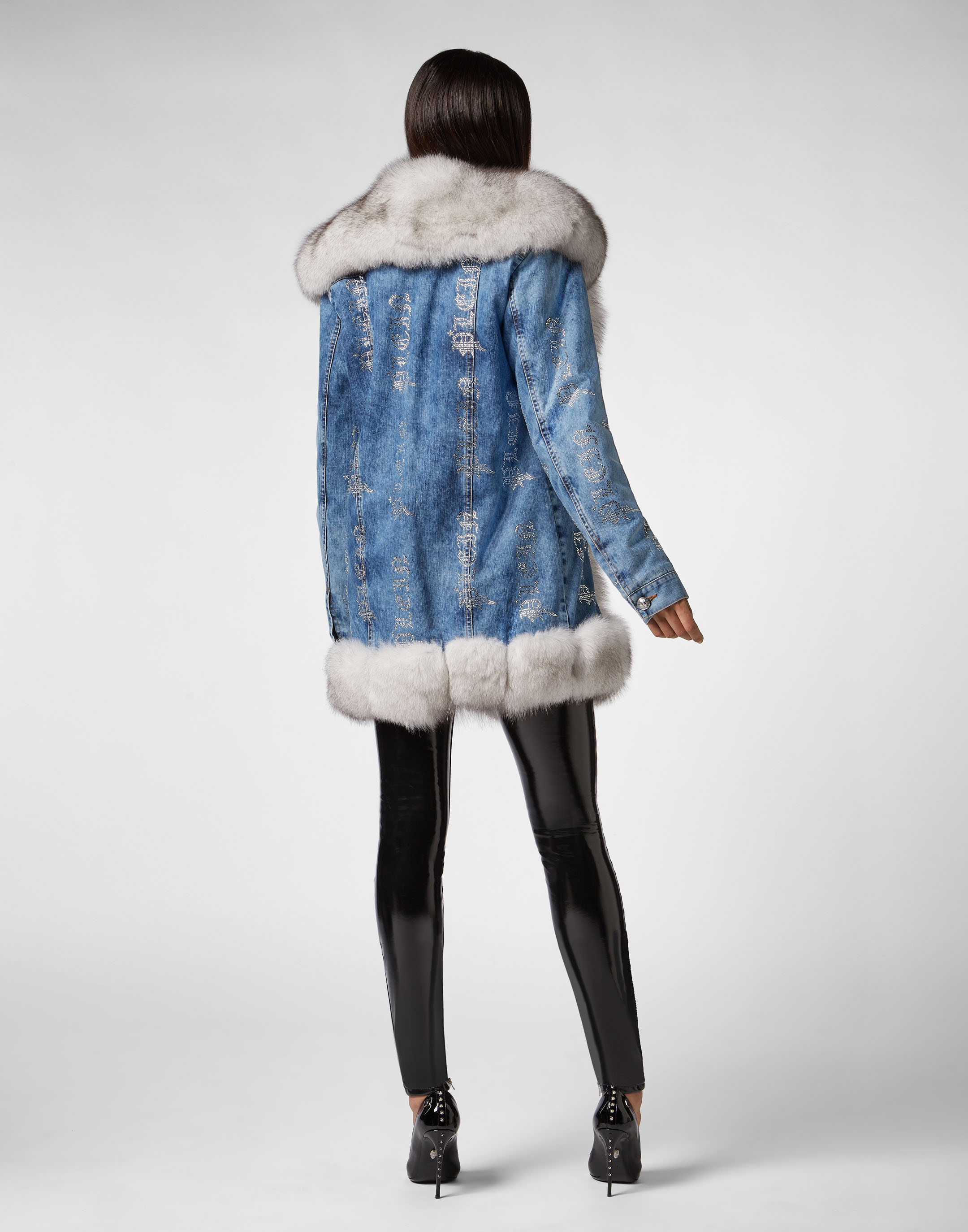6e81d83a1c3 Denim Jacket Crystal Plein