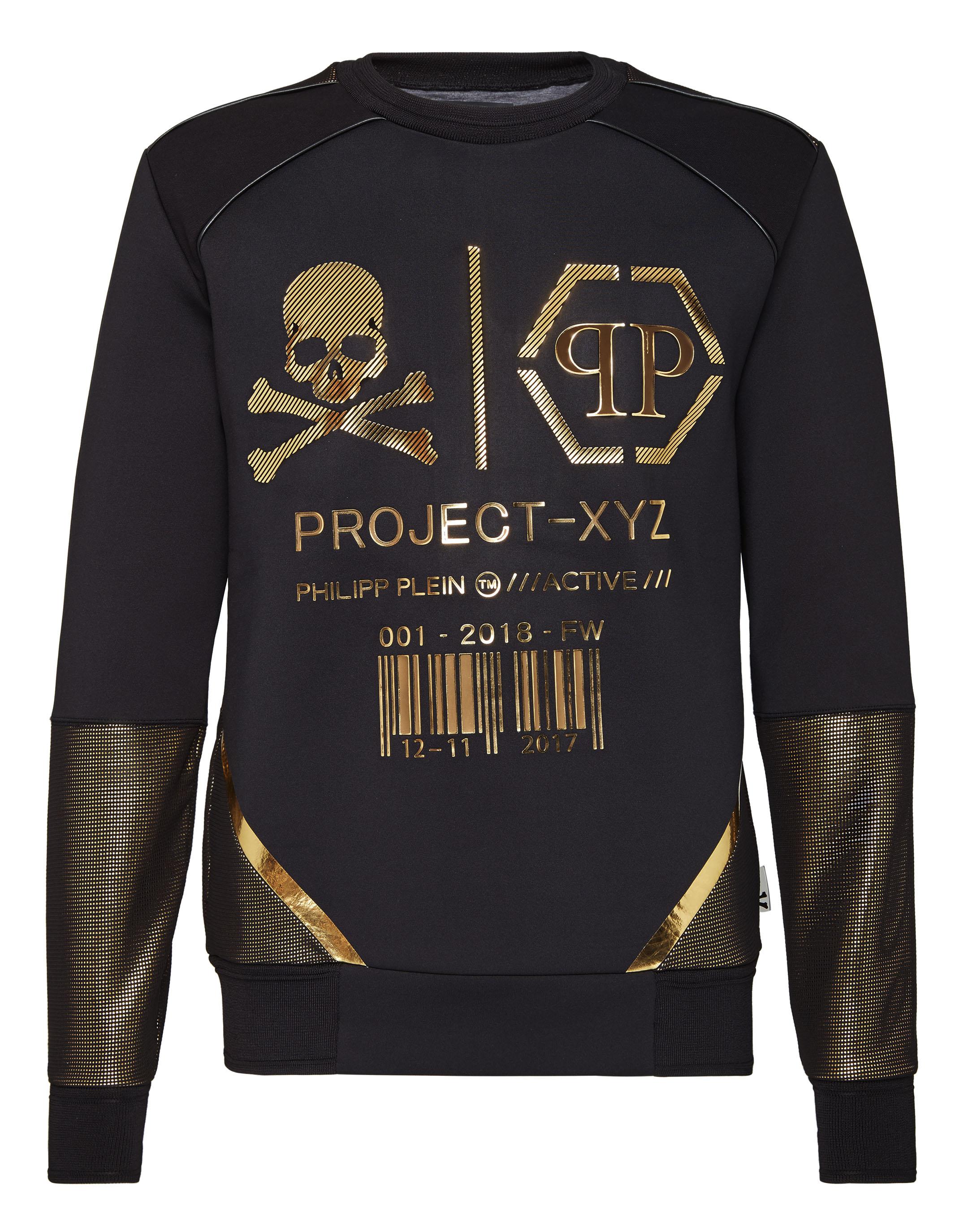 Noir Logos Xyz Sweatshirt Ls Plein Philipp atUppwq