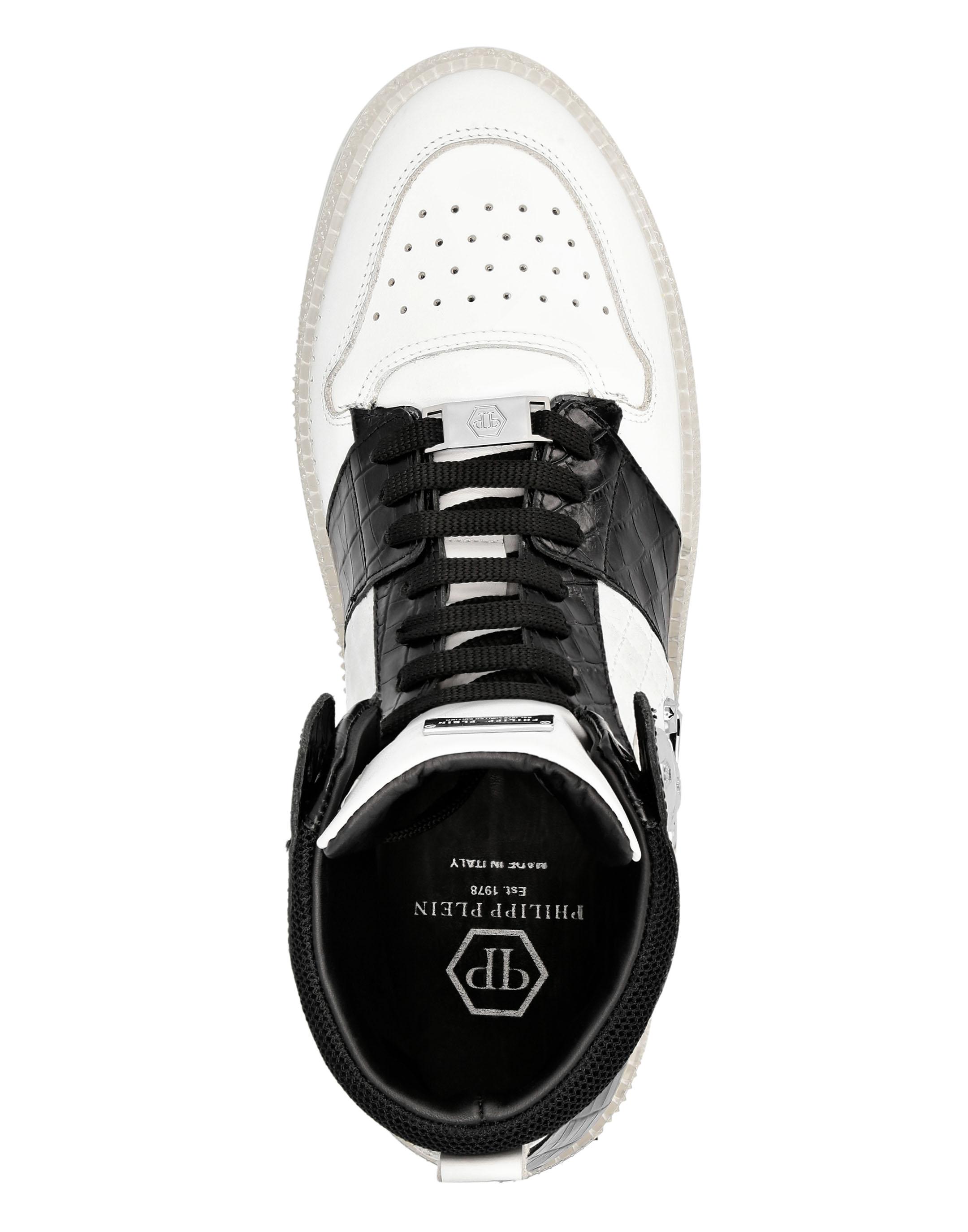 Philipp Plein High top sneakers Mit Totenkopf print Herren