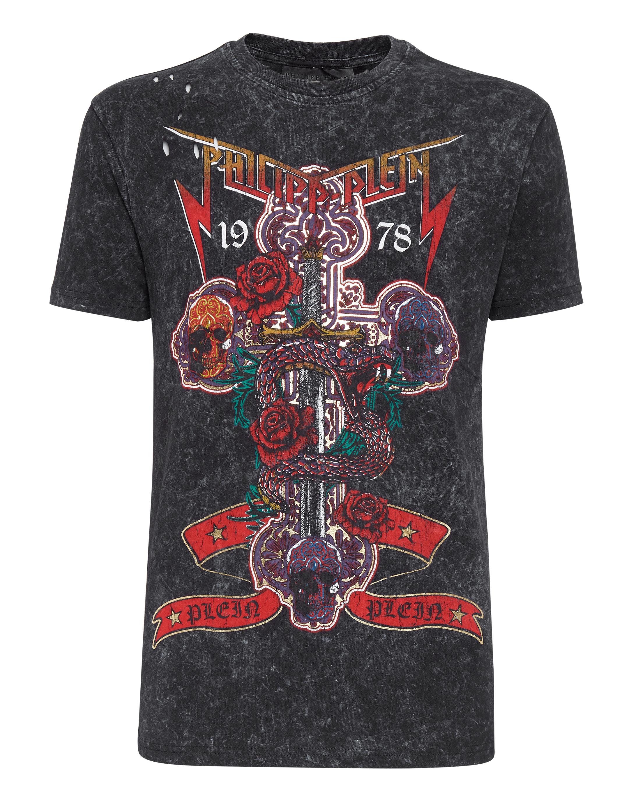 a69cd9d64b75 T-shirt Round Neck SS Rock PP   Philipp Plein