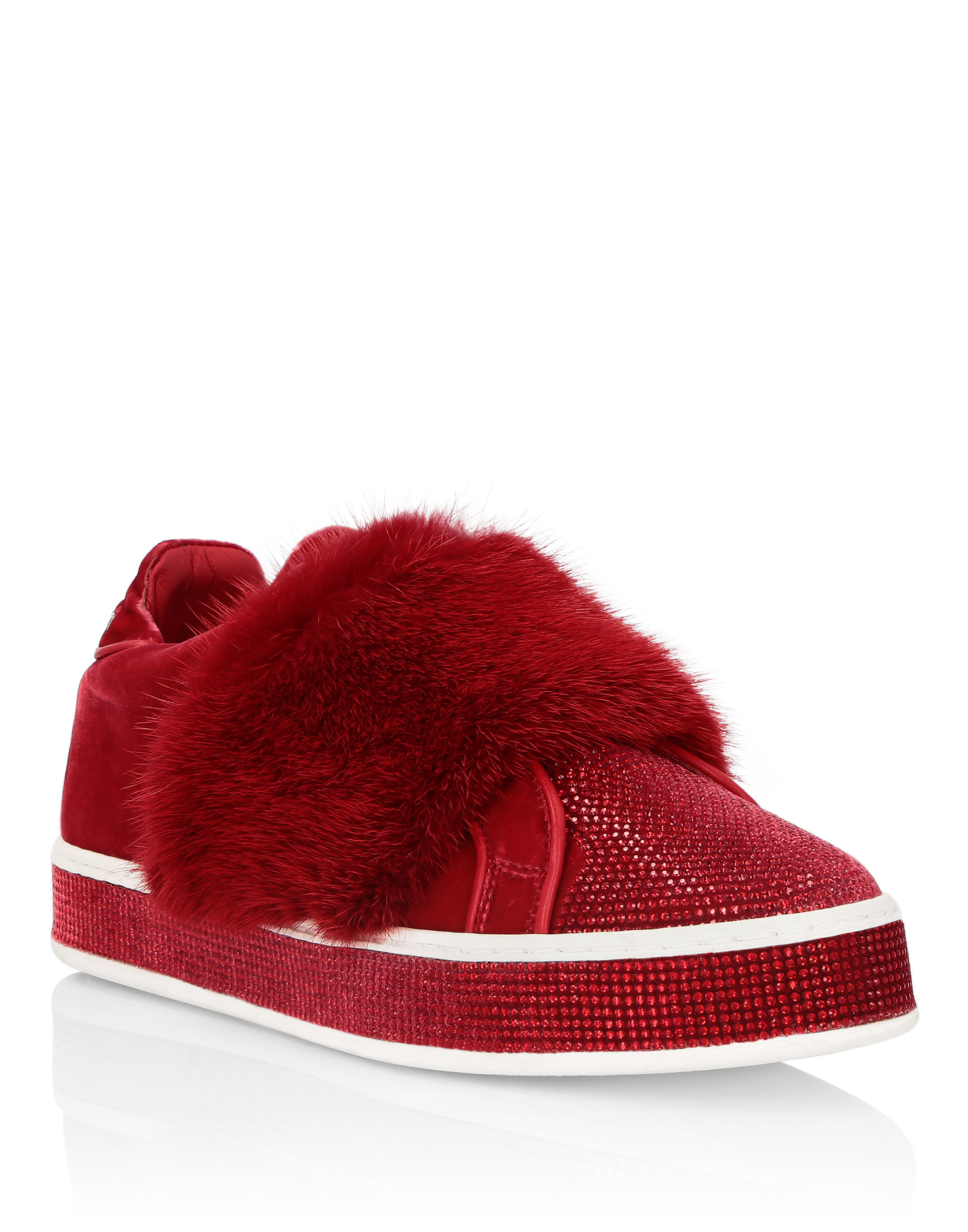 Lo-Top Sneakers Luxury in Red from PHILIPP PLEIN