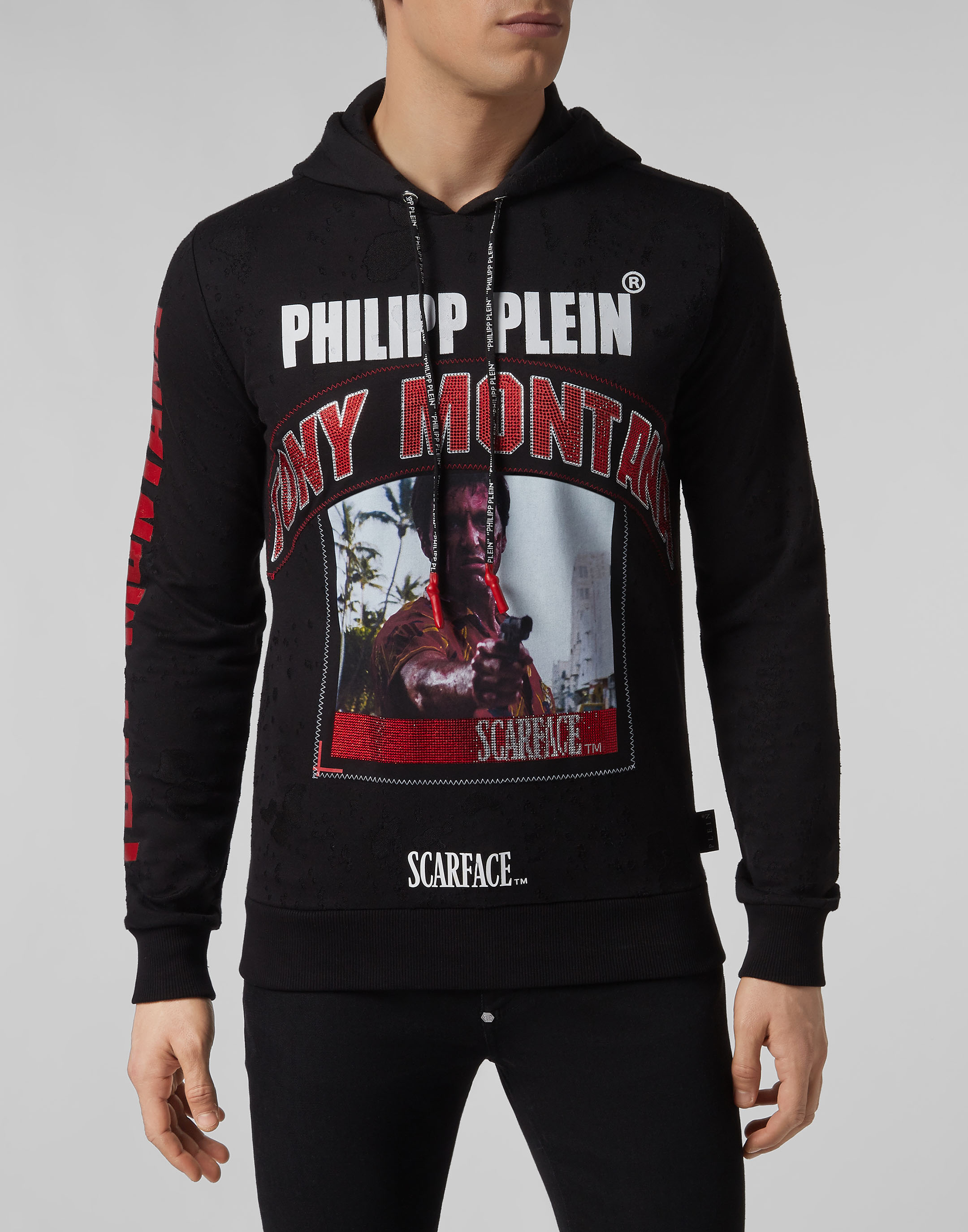 Hoodie sweatshirt Scarface   Philipp Plein 9f21aed9297