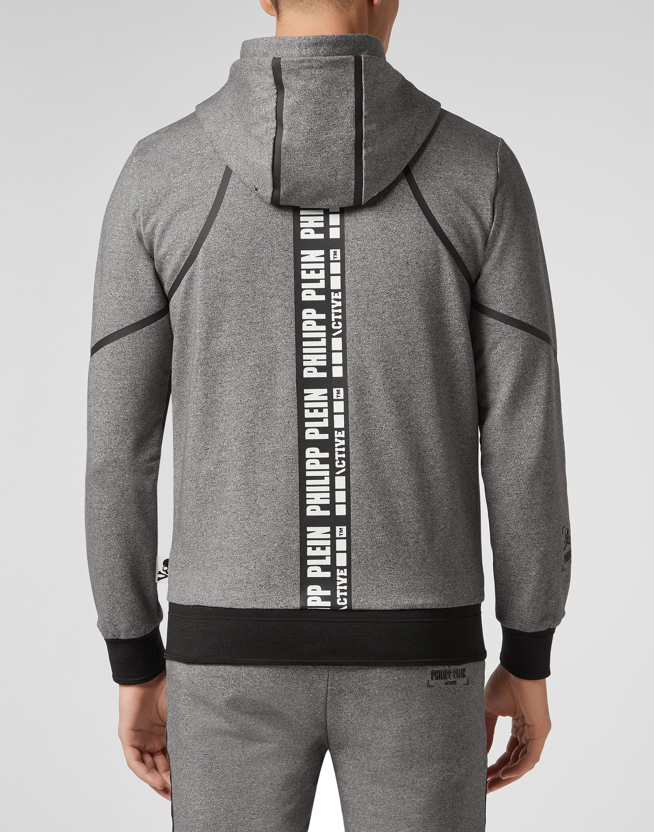 Hoodie Sweatjacket Geometric   Philipp Plein d3cf1e5b1a4