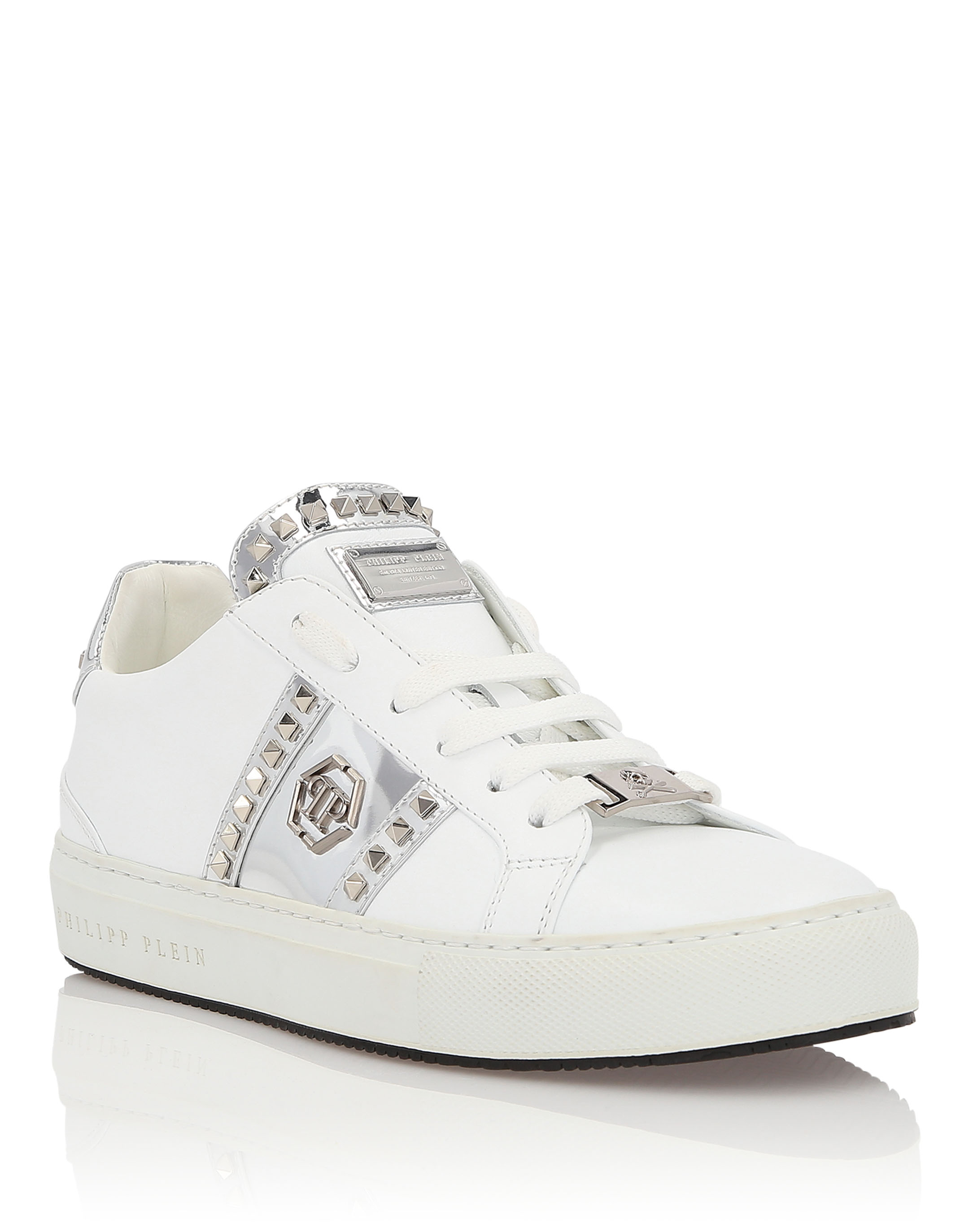 """Lo-Top Sneakers """"Brooks"""" in White from PHILIPP PLEIN"""