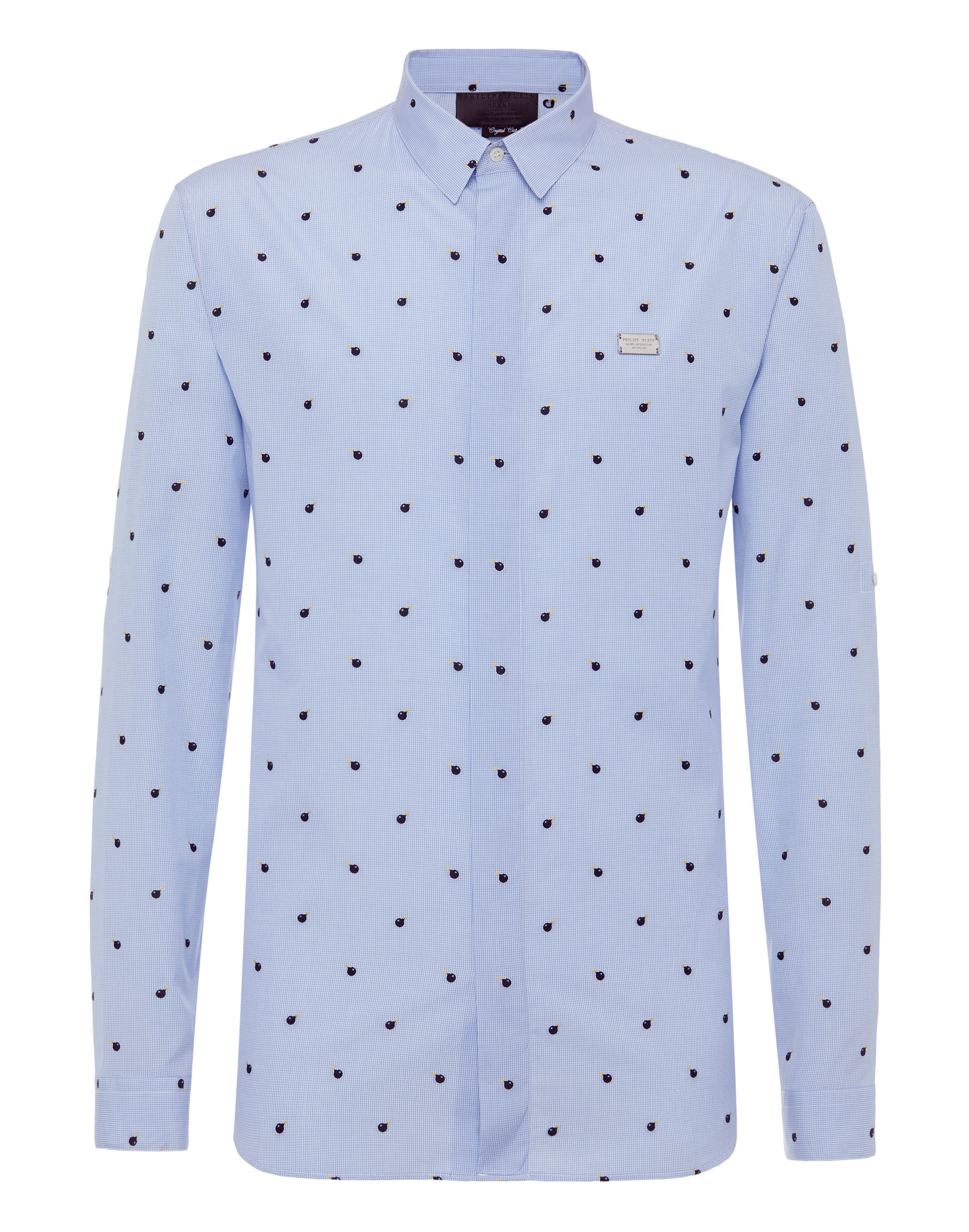 Shirt Crystal cut LS Statement