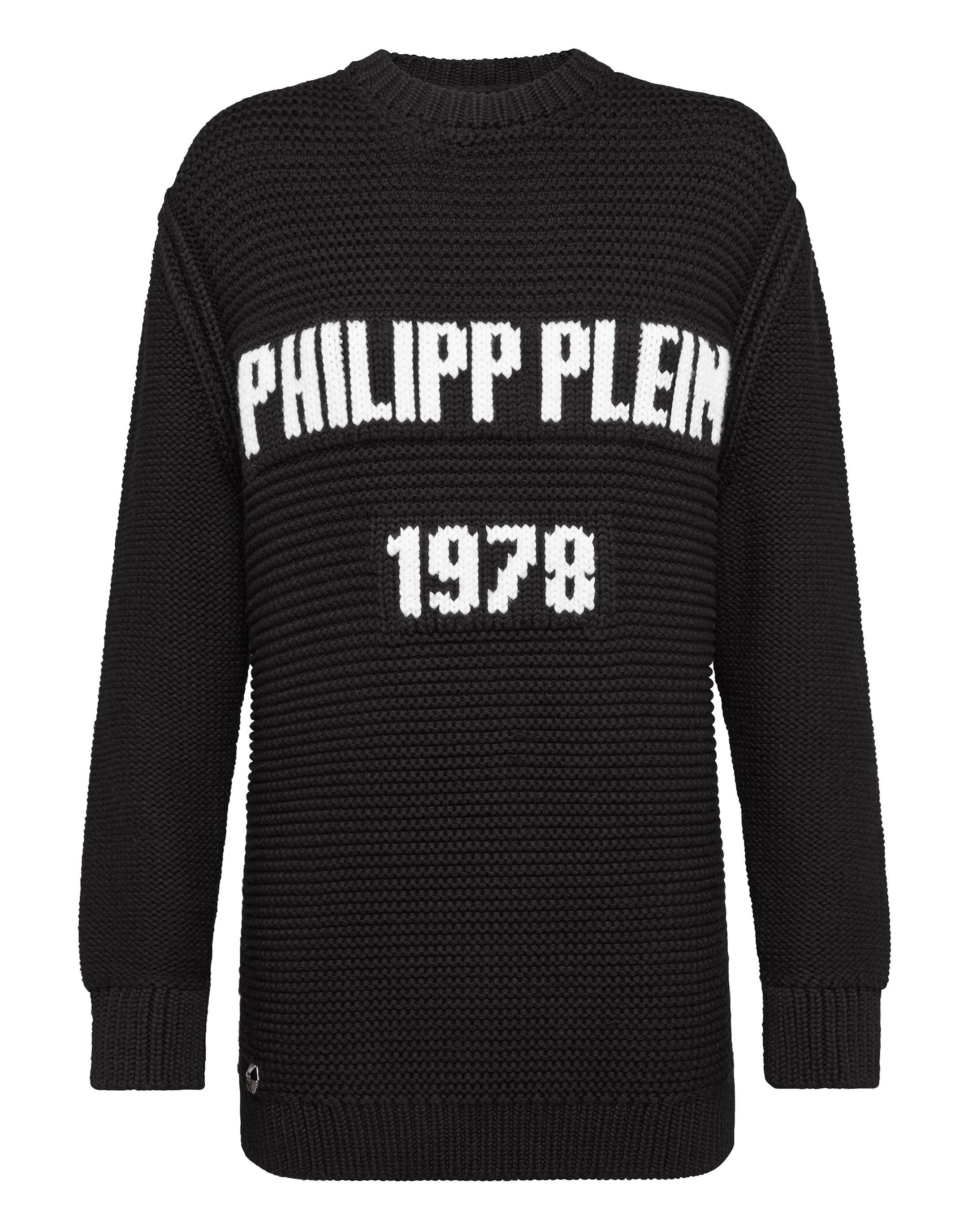Pullover Round Neck Ls Pp1978 in Basic from PHILIPP PLEIN