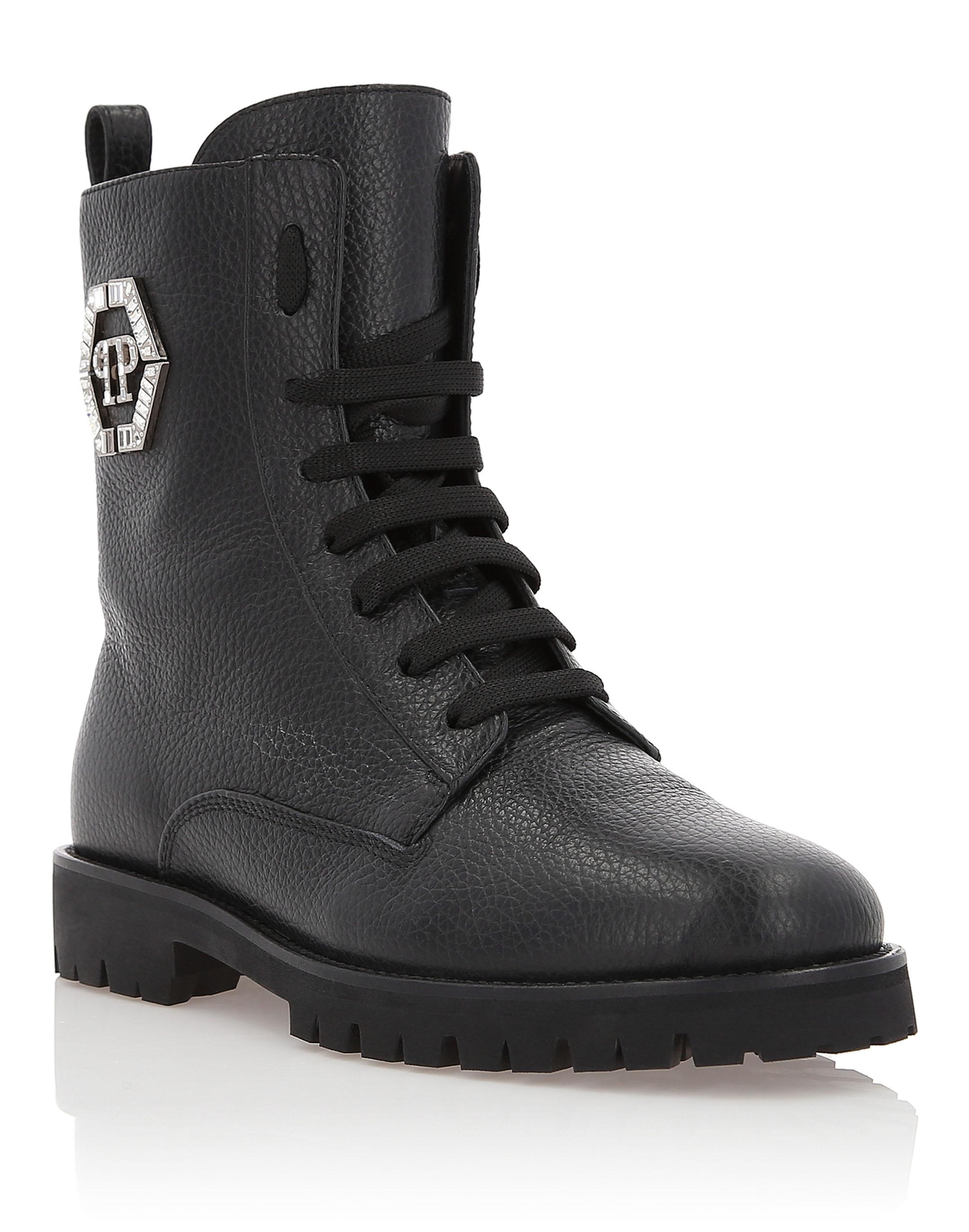 "Boots Low Flat ""Moonlight"" in Black from PHILIPP PLEIN"