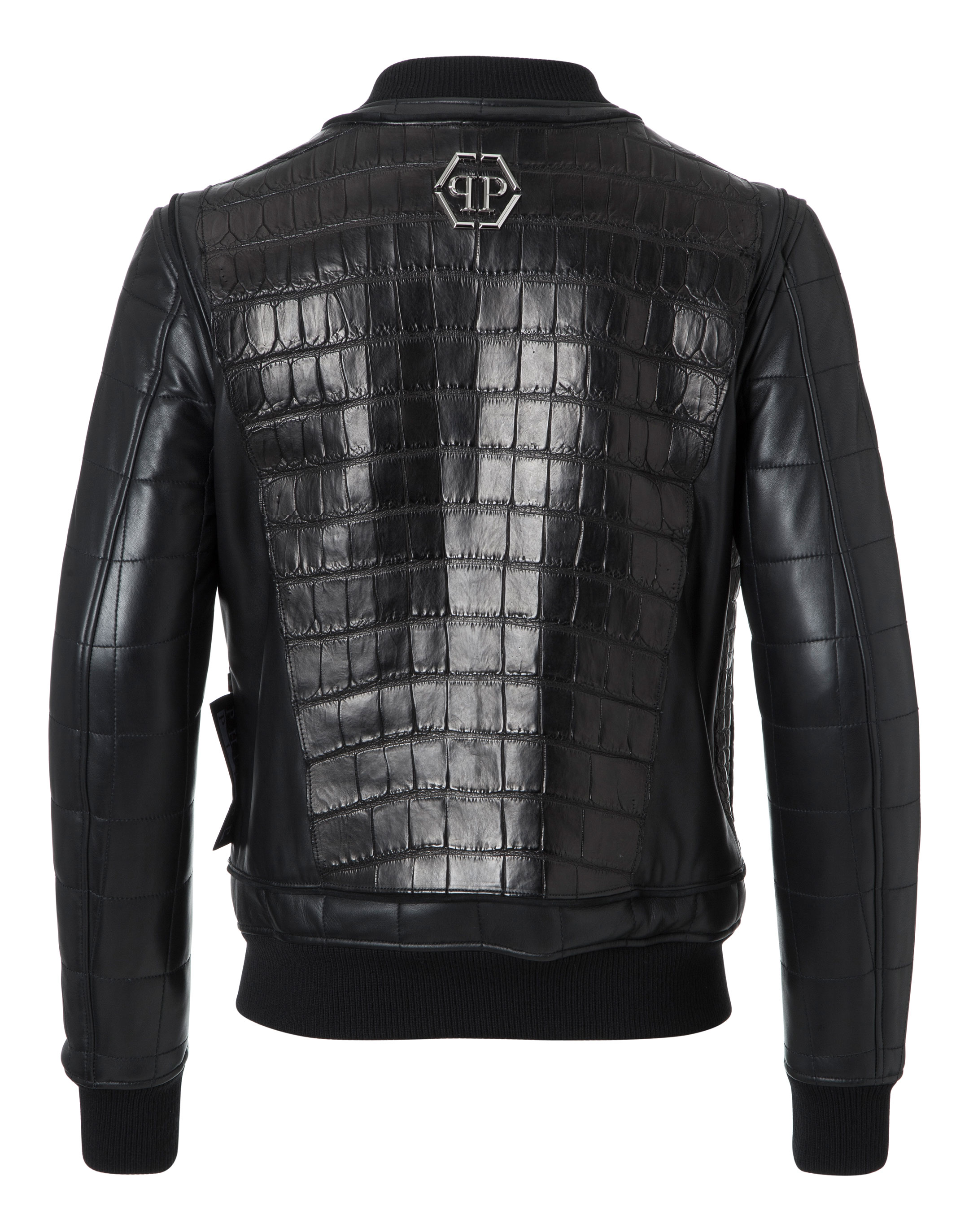 leather bomber jackie philipp plein. Black Bedroom Furniture Sets. Home Design Ideas