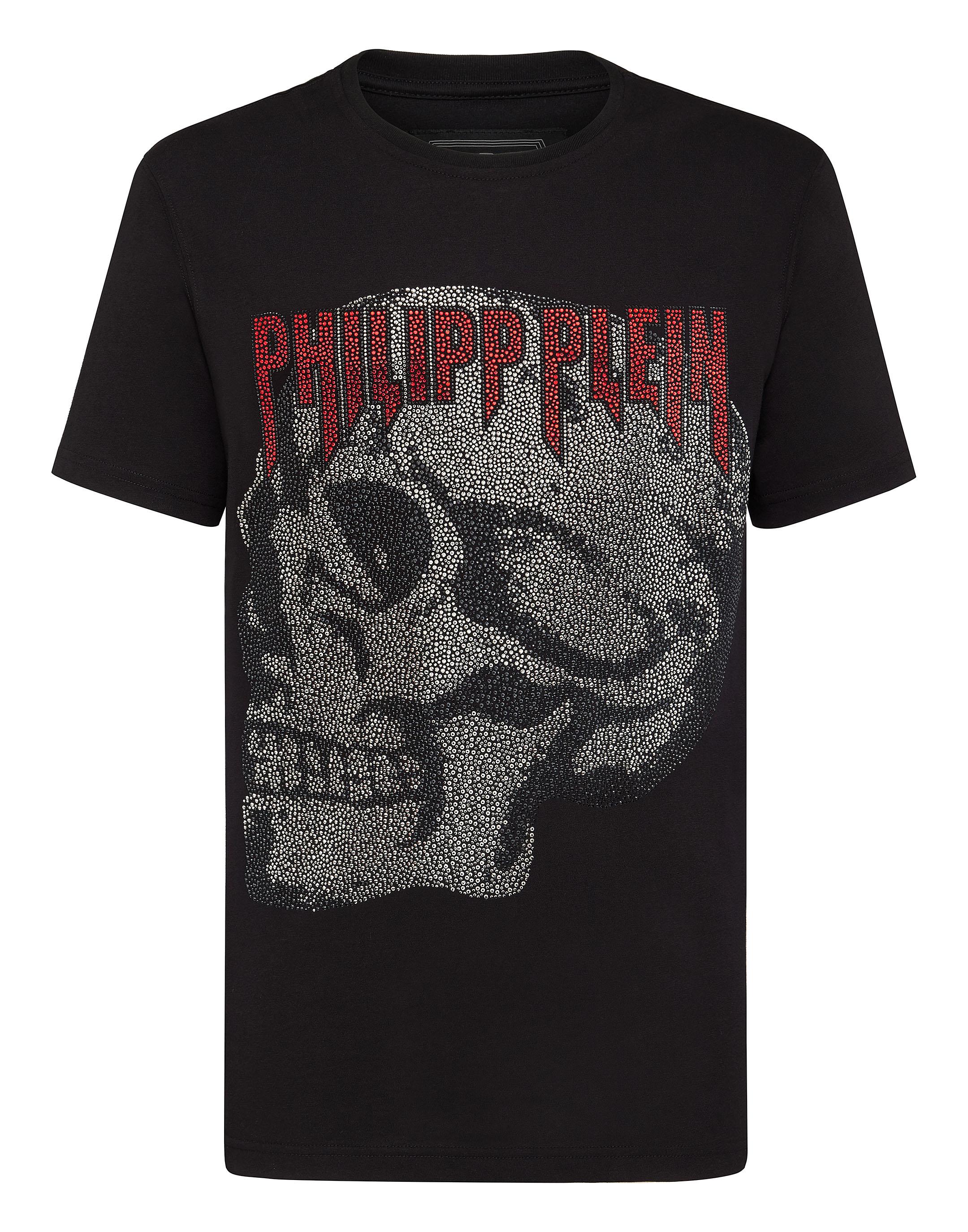 9ab3d39cc66 T-shirt Platinum Cut Round Neck Stars and skull | Philipp Plein