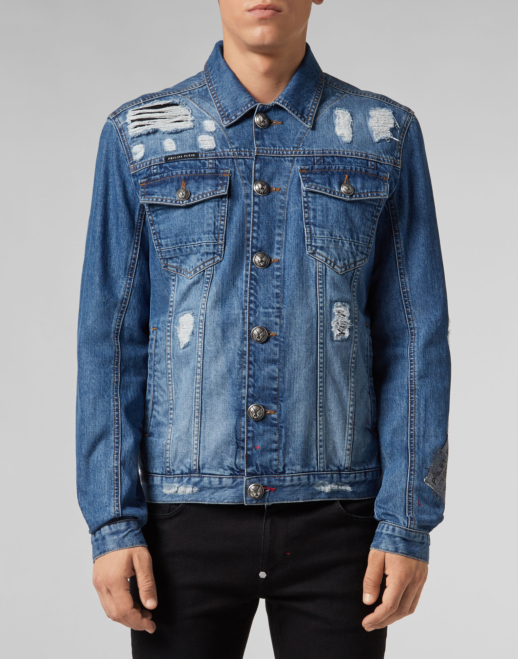 Denim Jacket Philipp Plein Tm Blazer Korea Kode Bk 01