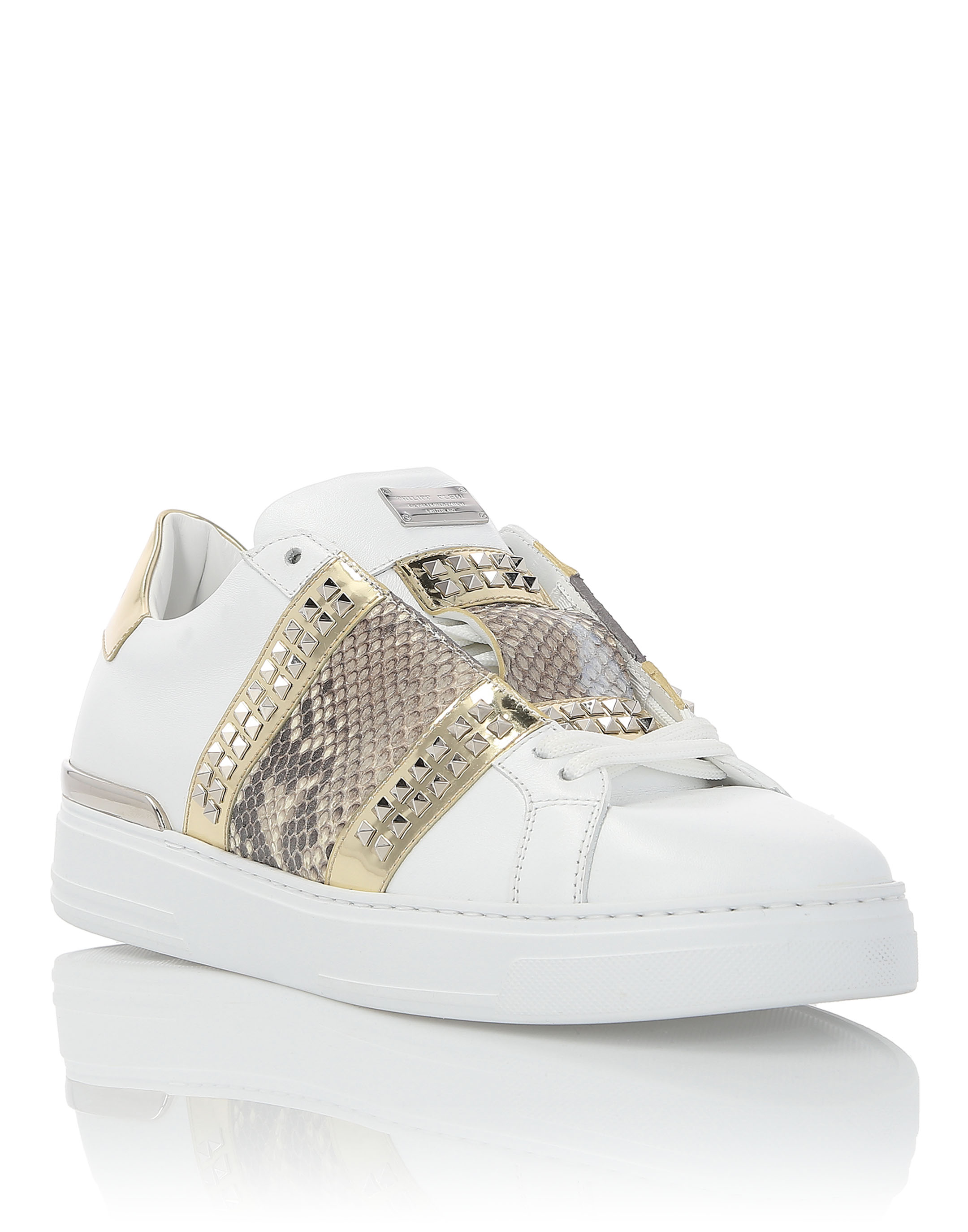 "PHILIPP PLEIN LO-TOP SNEAKERS ""BIG STRIPE"""