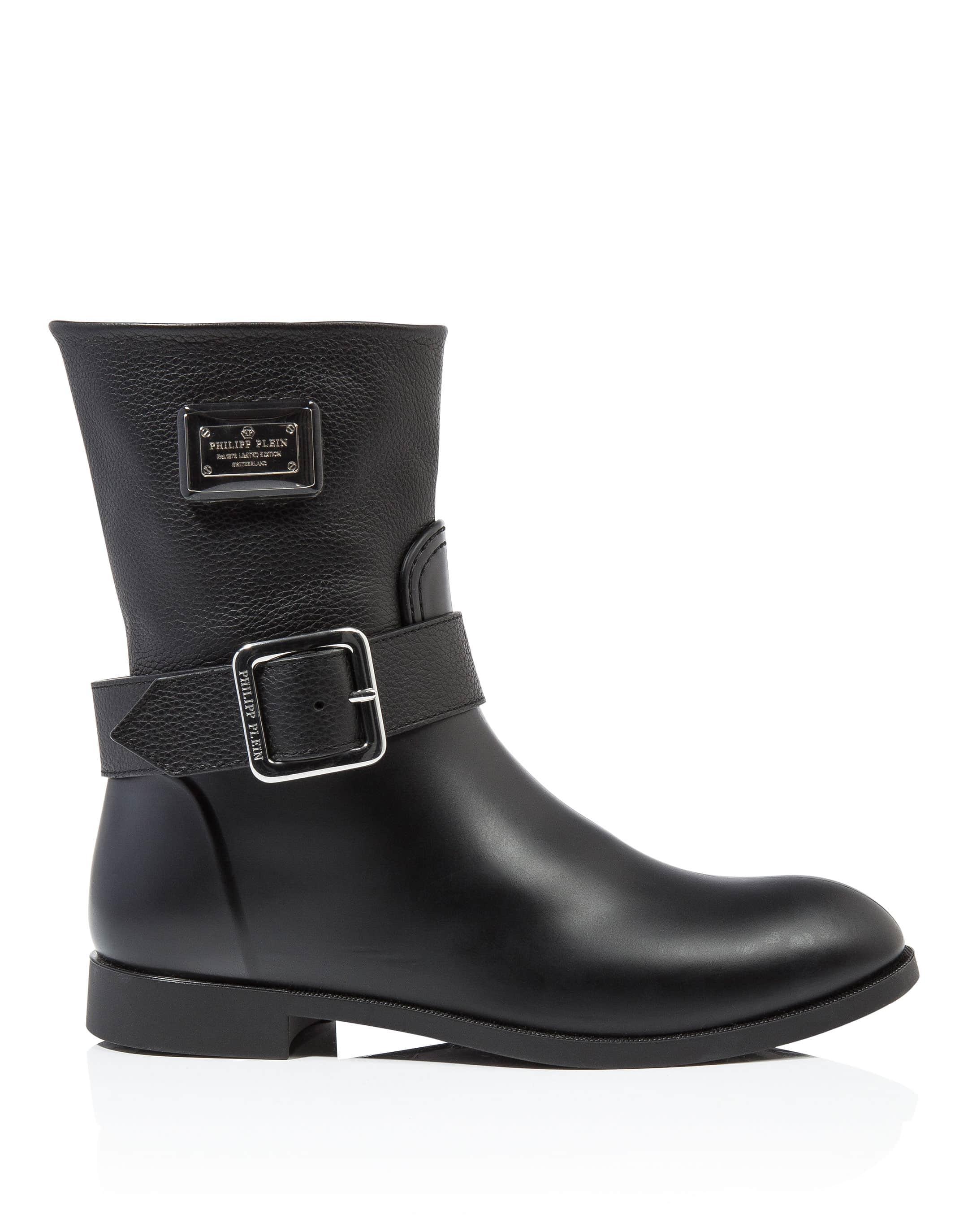 Philipp Plein Gummy flat low boots